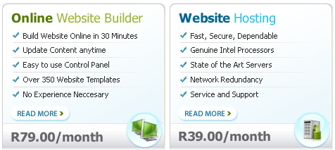 website builder and web hosting