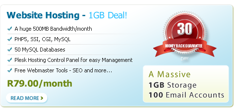 website hosting deal